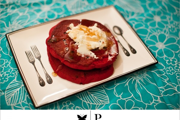 My Red Velvet Obsession: Pancakes from Tops Diner