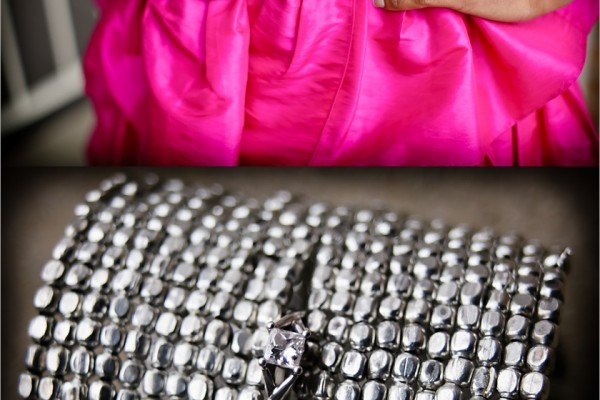Beautiful is... Wearing Bold Pink Ruffles and a Silver Cuff