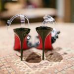 Ghanaian wedding shoes Louboutin Petronella Photography