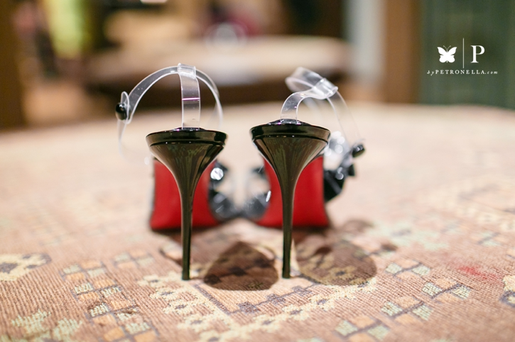 Ghanaian wedding shoes Louboutin Petronella Photography