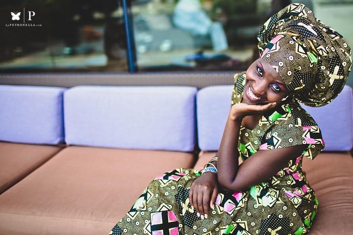 Ugandan lady in traditional ankara and gele UNAA convention (2)