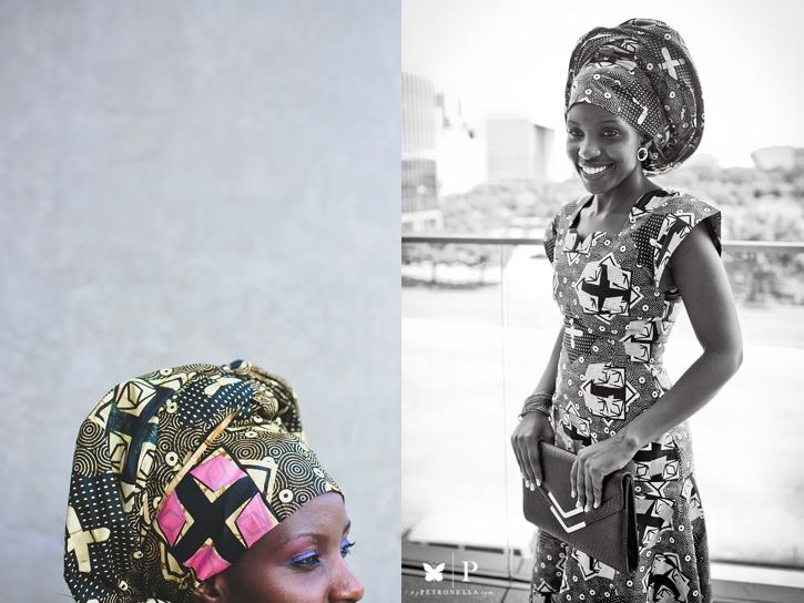 Ugandan lady in traditional ankara and gele UNAA convention (5)