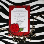 African traditional engagement wedding Invitations Bibi Invitations