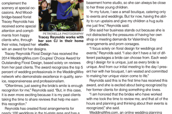 Petronella Photography Featured in the Woodbridge Sentinel