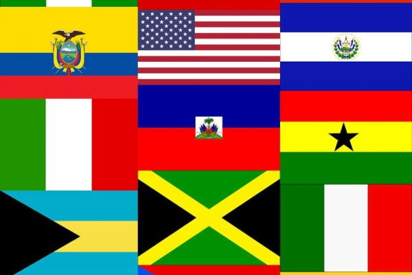 Multicultural Flag Collage of 2014 Clients