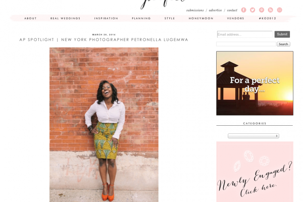 Petronella Photography featured on Aisle Perfect