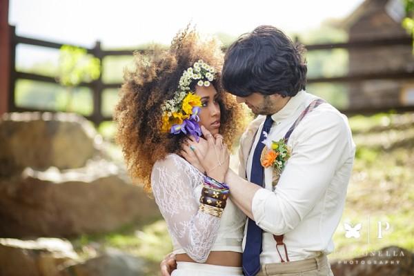Owl's Hoot Barn | Boho Interracial Bridal Shoot Featured on Mountainside Bride!