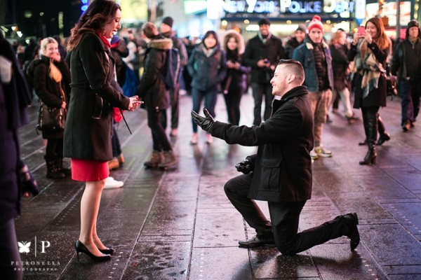 Times Square New York | Larina + Jorge's Valentine's Day Proposal