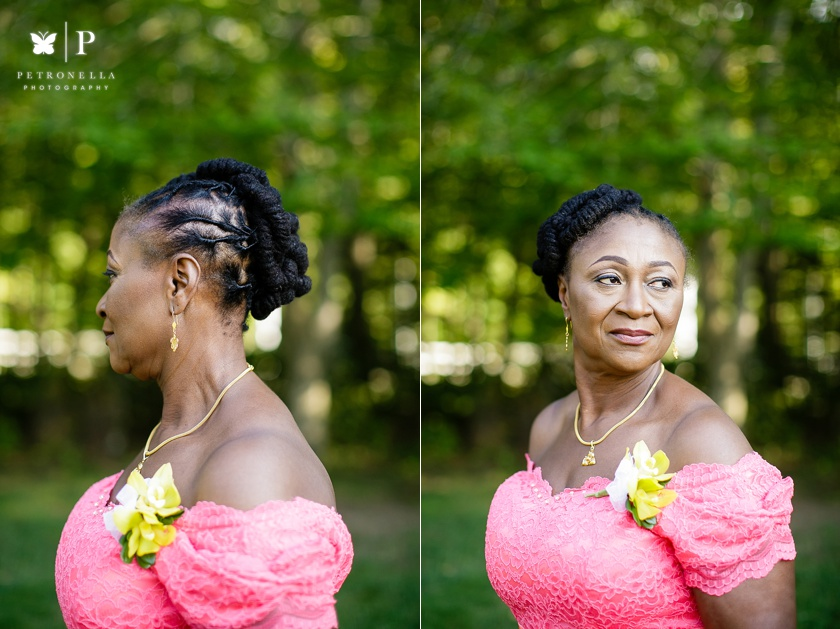 New York multicultural wedding photographer natural hair wedding hair style Petronella Photography