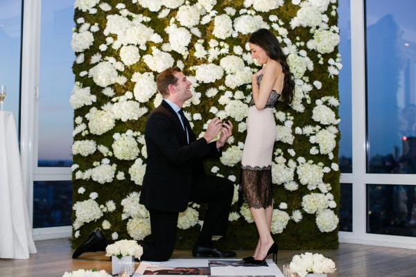 How David Proposed with a KimYe Flower Wall