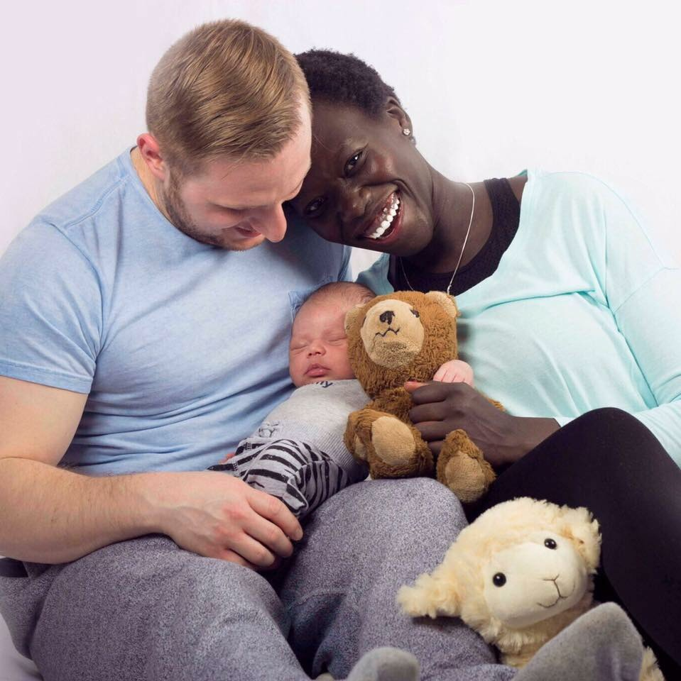Lily Yange interracial black white family and baby boy