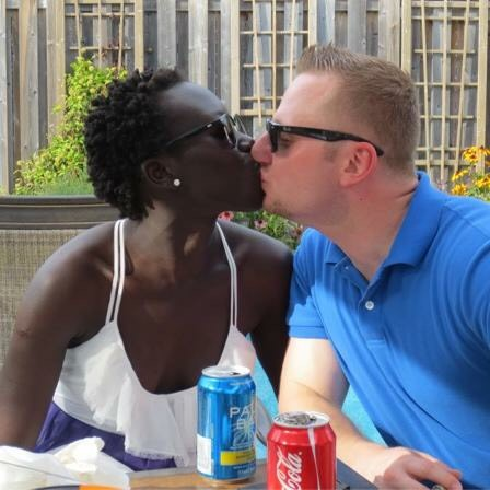 interracial Sudanese German couple Lily Yange and Kent
