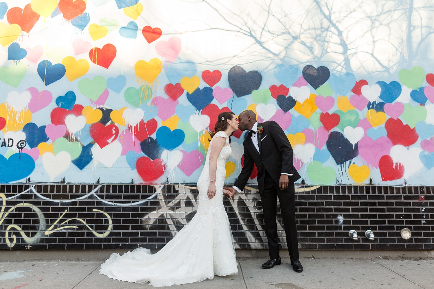 Newly Engaged Advice Jewish Nigerian Muslim wedding at Chelsea love graffiti