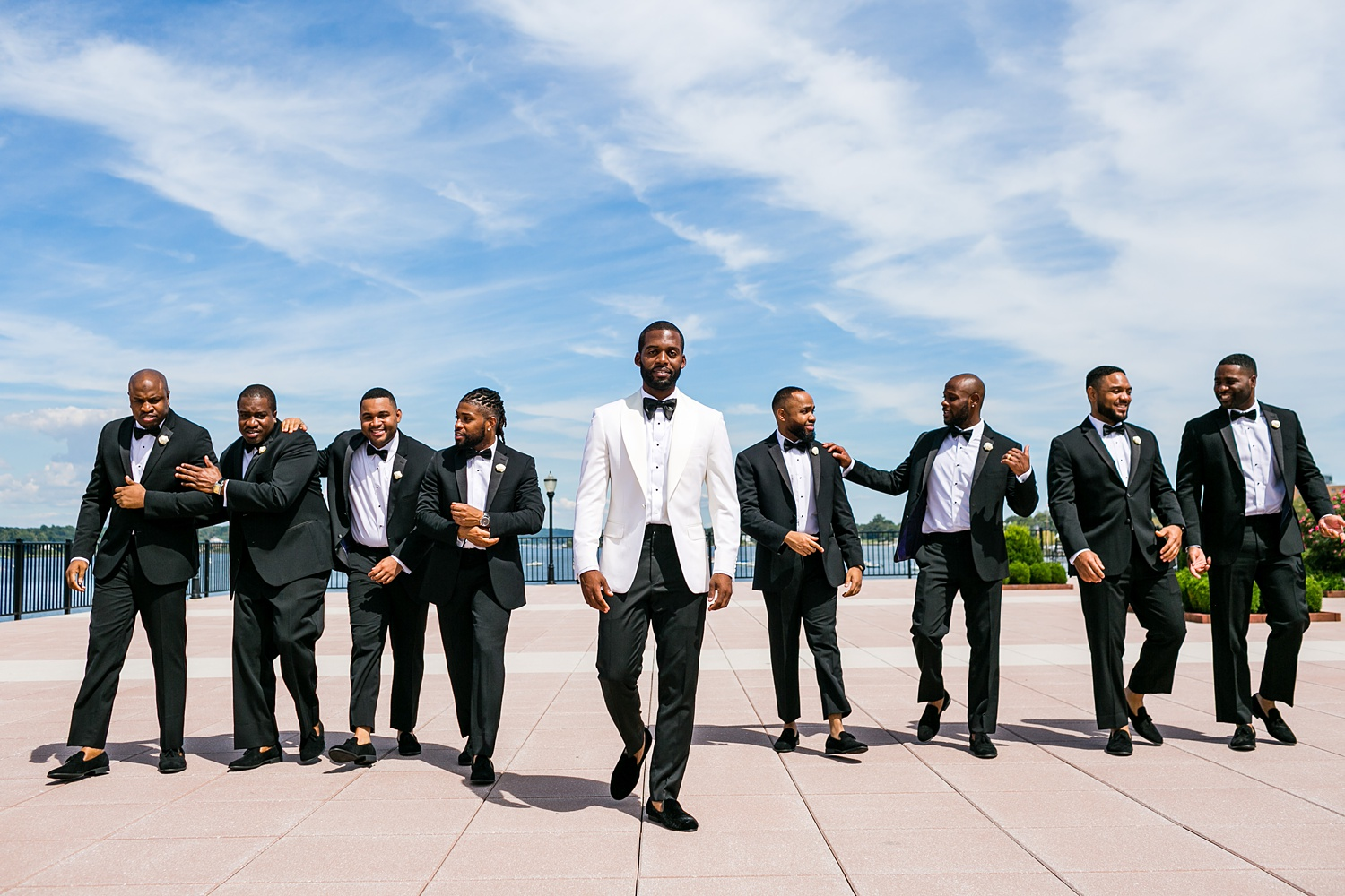 Newly Engaged Advice Gramercy at Lakeside Manor groomsmen Shaq Drew