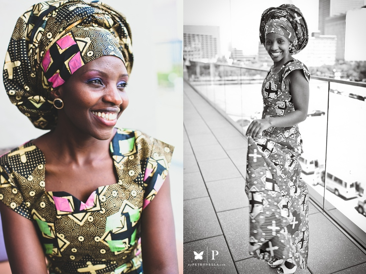 Ugandan lady in traditional ankara and gele UNAA convention (4)
