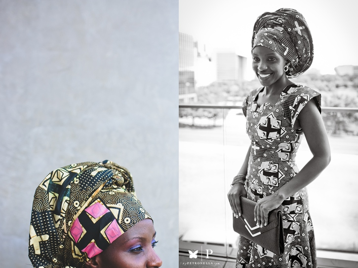 Ugandan lady in traditional ankara and gele UNAA convention (5)