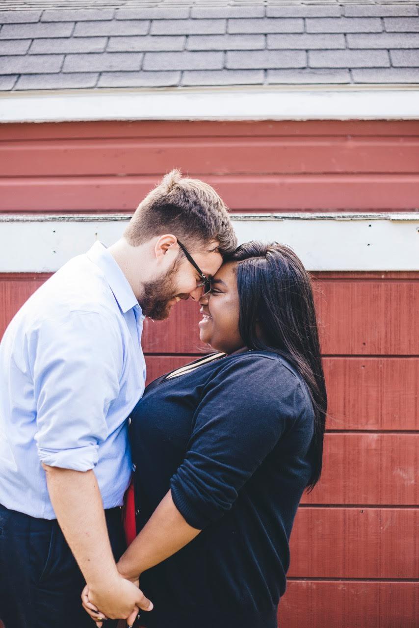 interracial newlyweds Khadijah Thomas engagement session