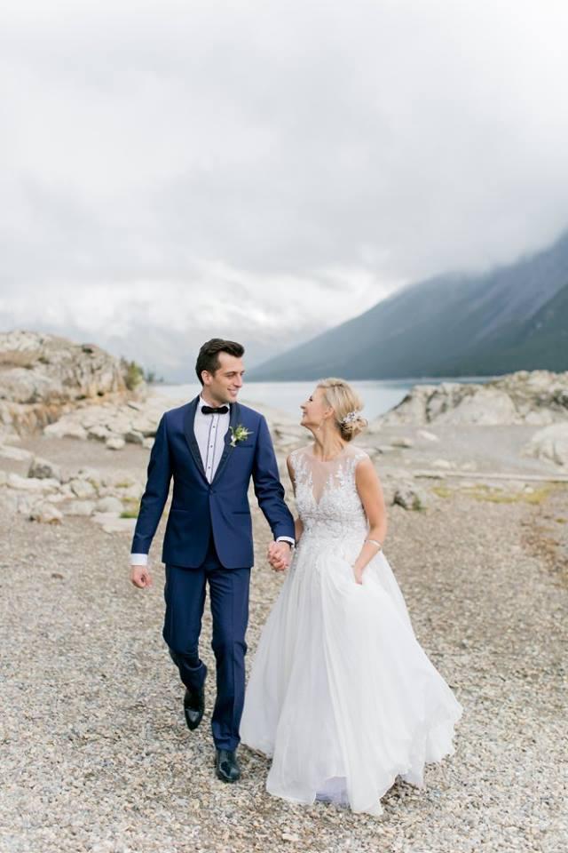 Anna Lauren Tüfekçi & Eren during their interfaith marriage in Canada