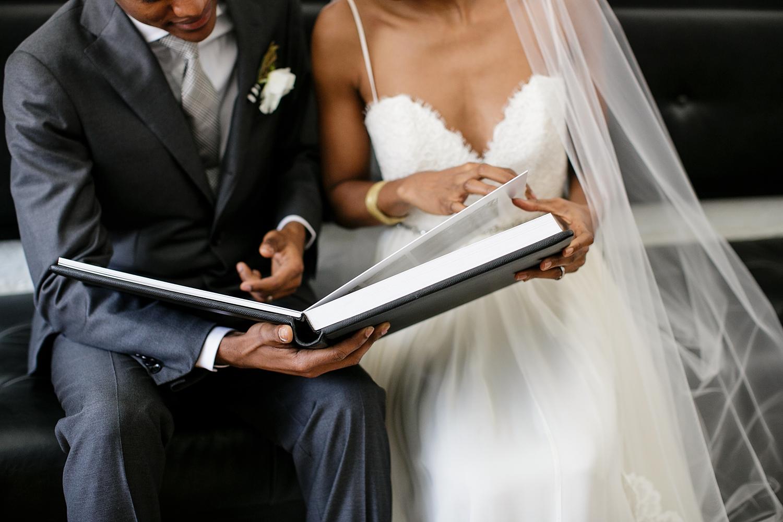 Wedding album consult with Petronella Photography