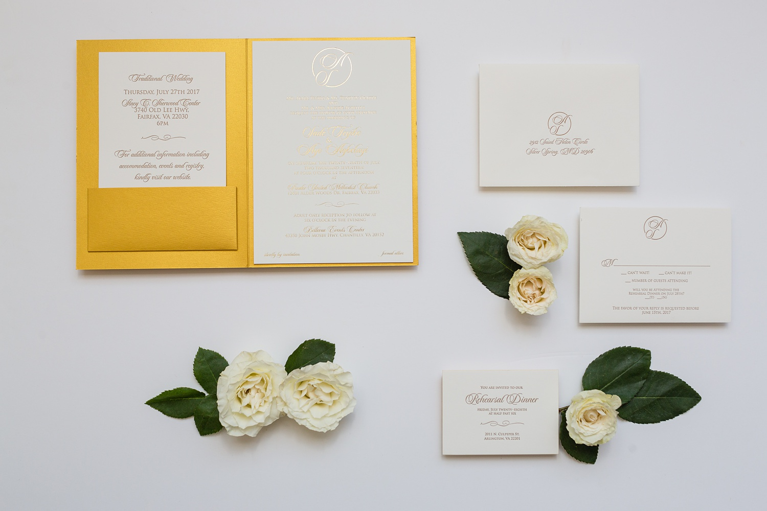 Newly Engaged Advice Nigerian wedding invite at Bellevue Conference