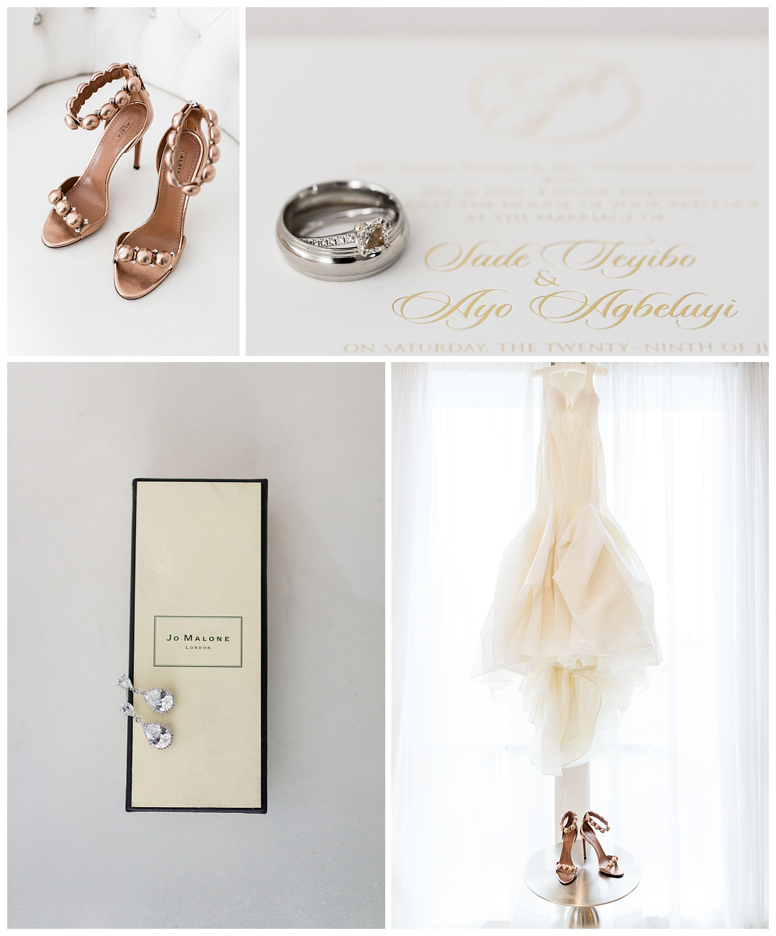 Alaia wedding shoes at Bellevue Conference Nigerian luxury wedding Petronella Photography